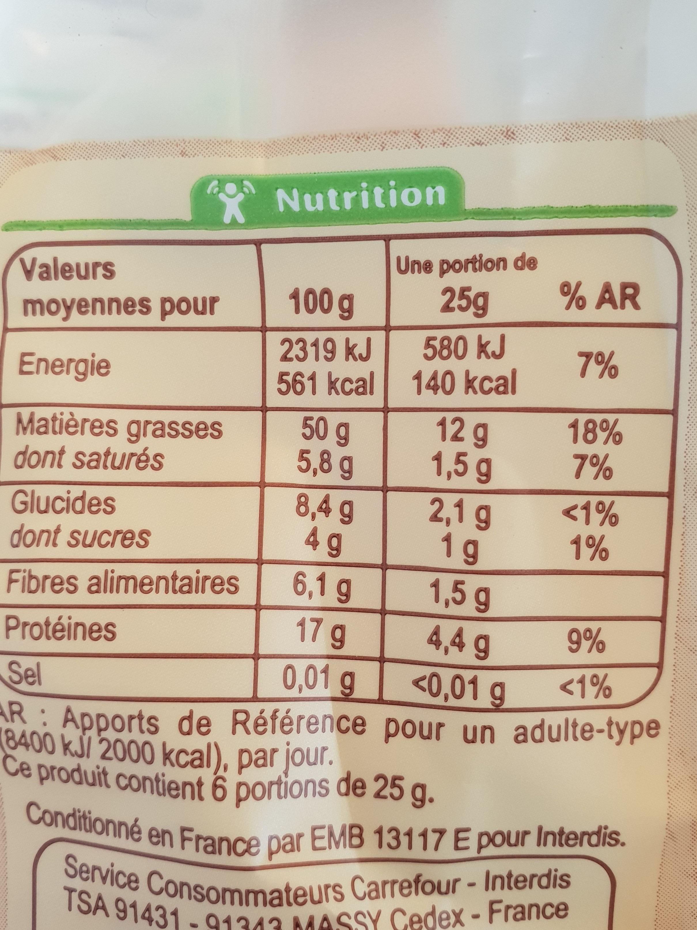 Melange De Graines - Informations nutritionnelles - fr