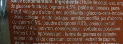 Sauce algérienne - Ingredients - fr