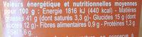 Sauce algérienne - Nutrition facts - fr