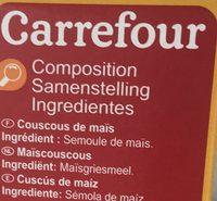 Couscous maïs sans gluten - Ingredienti - fr