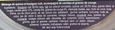 Salade  boulgour, quinoa, graines de courge - Ingrediënten