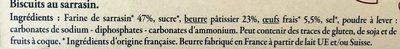 Galette bretonne - Ingredients - fr