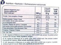Stick & Choc - Nutrition facts