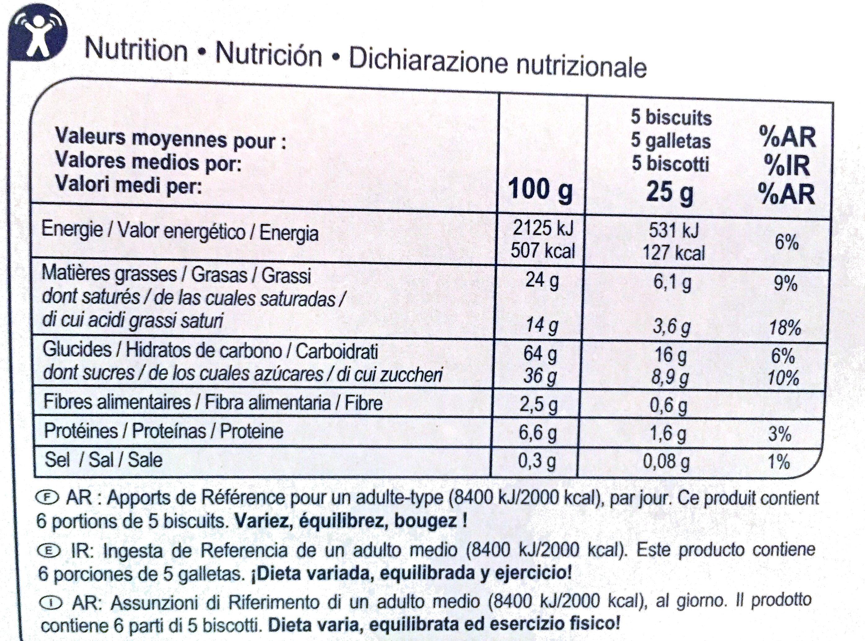 Stick & Choc - Informations nutritionnelles - fr