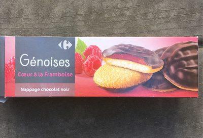 Gâteaux cœur framboise chocolat noir - Product
