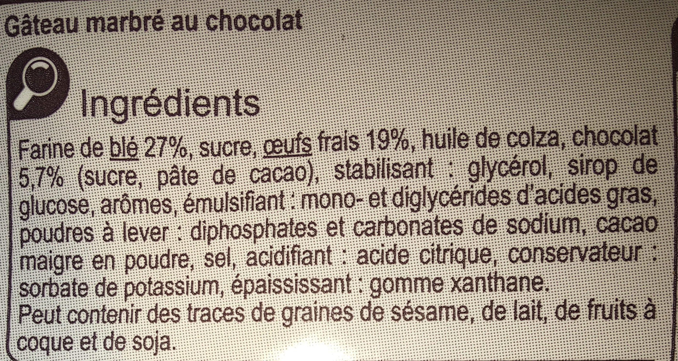 Gâteau marbré au chocolat - Ingrediënten - fr