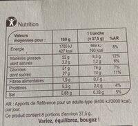Gâteau marbré au chocolat - Nutrition facts - fr