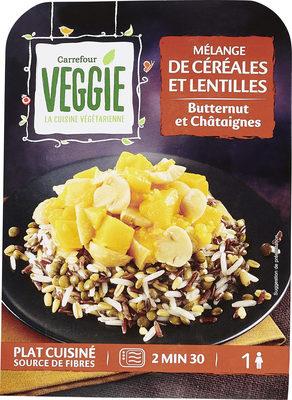 Mélange de céréales et lentilles Butternut et châtaignes - Produkt - fr