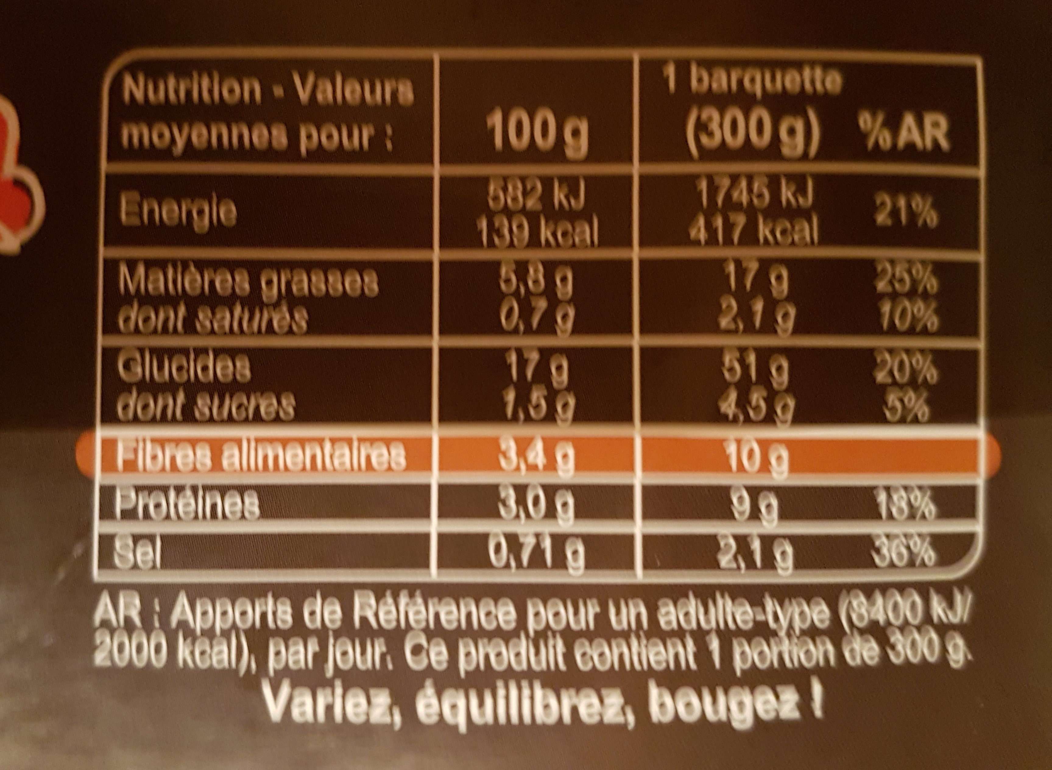 Mélange de céréales et lentilles Butternut et châtaignes - Nährwertangaben - fr