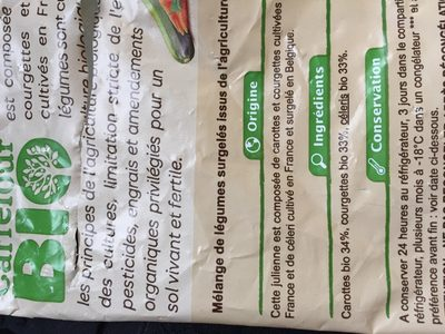 Julienne de Légumes - Ingredients