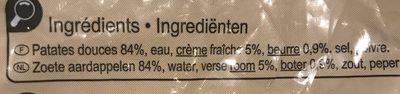 Puree patate douce - Ingrédients - fr