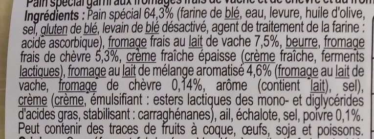 Préfou saveur Chèvre - Ingredients