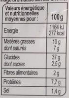 Préfou saveur Chèvre - Nutrition facts