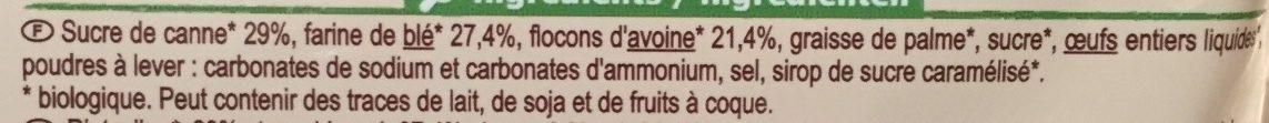Biscuit Croustillant Blé Et Avoine - Ingrediënten