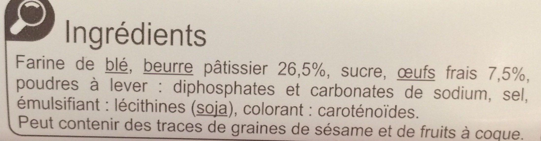 Palets Breton Au beurre et aux œufs frais - Ingrediënten - fr