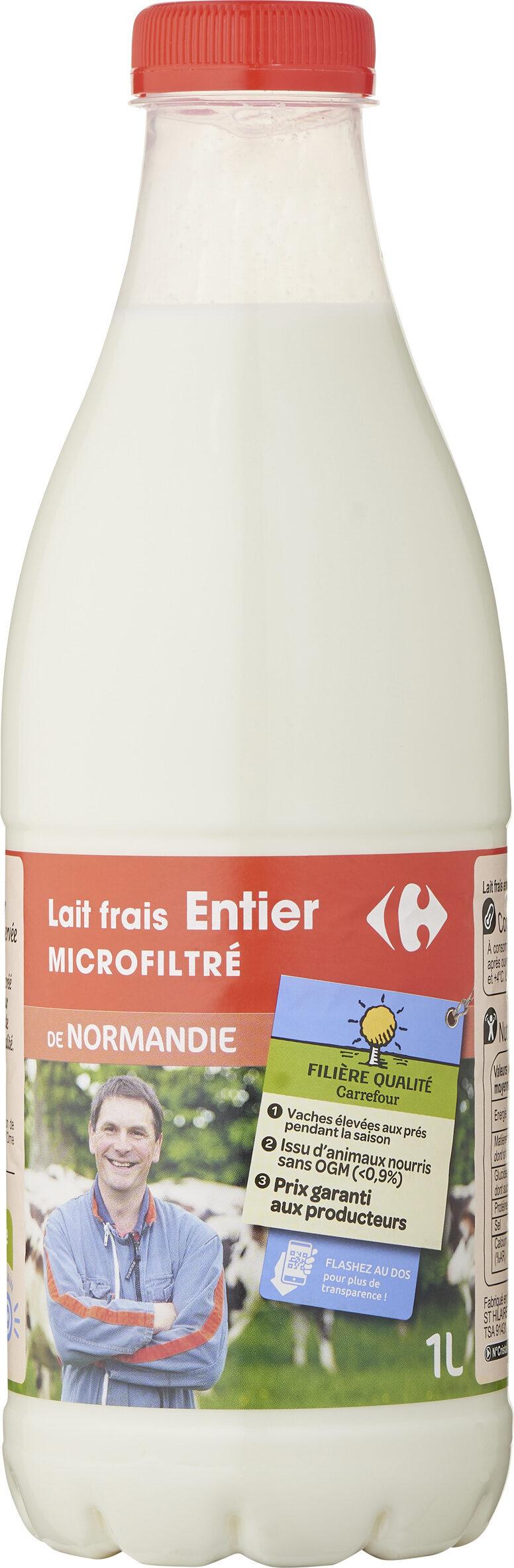 Lait frais entier microfiltré - Produit - fr