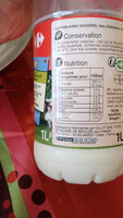 Lait frais entier microfiltré - Informations nutritionnelles - fr