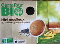 Mini moelleux citron graines de pavot - Produit - fr