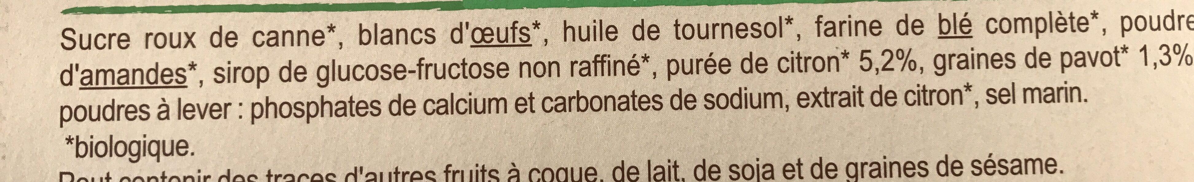 Mini moelleux citron graines de pavot - Ingrédients - fr