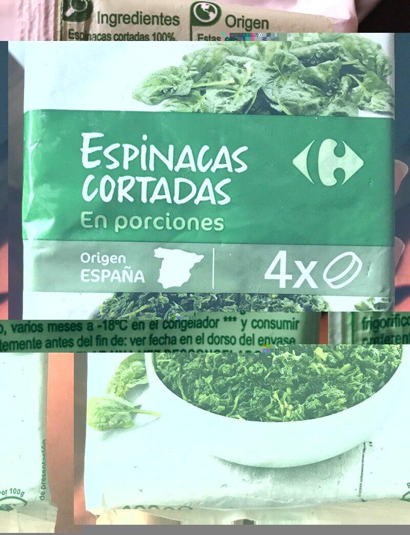 Espinacas cortadas en porciones - Informations nutritionnelles - es