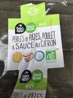 Perles de pates, poulet et sauce au citron - Product - fr