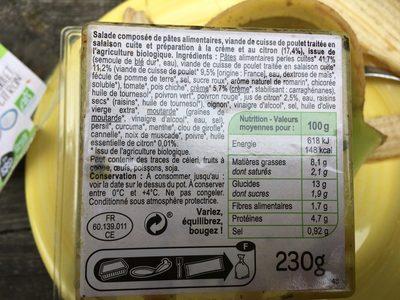 Perles de pates, poulet et sauce au citron - Ingrediënten - fr