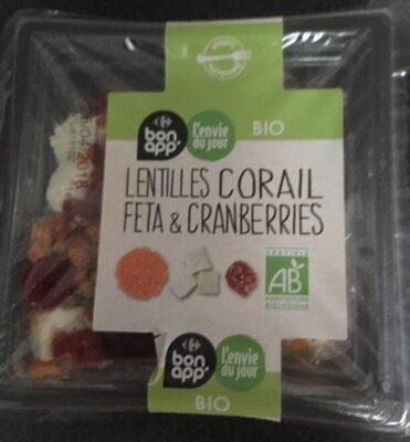 Lentilles corail Feta & Cranberries - Product