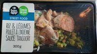 Riz & légumes poulet à l'indienne Sauce Tandoori - Product - fr