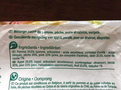 Salade de fruits - Ingredientes