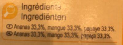 Mélange de fruits Pour Smoothies - Ingredientes