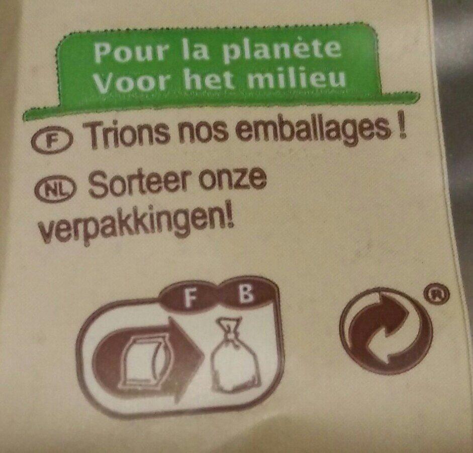 Coquillette Bio - Instruction de recyclage et/ou informations d'emballage - fr