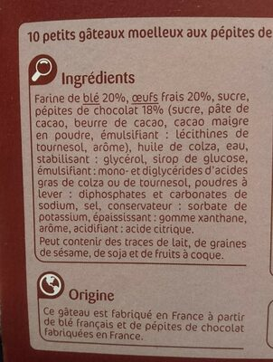 Mini gateaux moelleux - Ingredients - fr