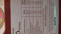 Mini gateaux moelleux - Nutrition facts - fr