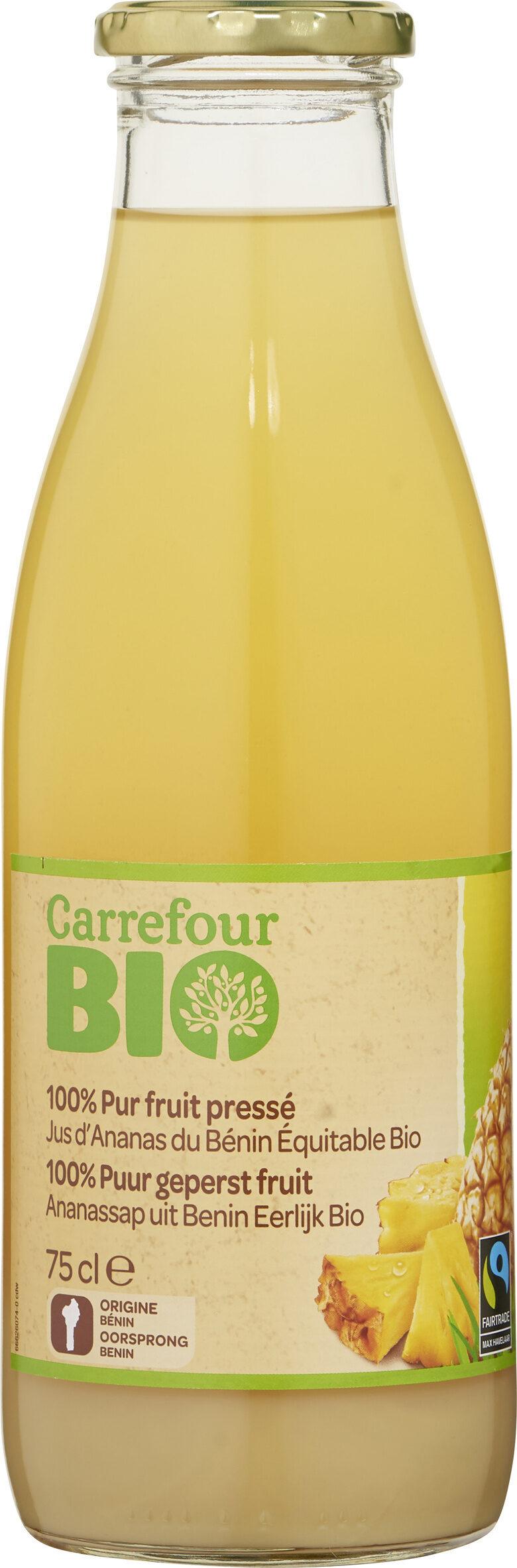 100% Pur fruit pressé Jus d'Ananas du Bénin BIO - Prodotto - fr