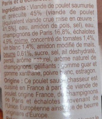 Poulet chasseur - Ingrédients - fr
