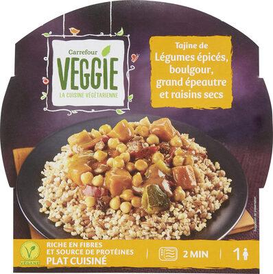 Tajine de Légumes épicés, boulgour, grand épeautre - Produit - fr
