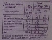Postre helado de almendras sabor vainilla - Información nutricional