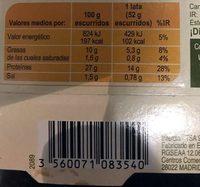 Atún claro en aceite de oliva virgen extra - Informació nutricional - es