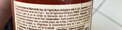 Jus de Tomates de Marmande - Ingredients - fr