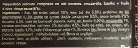 Galette au blé a l'italienne - Ingrédients - fr