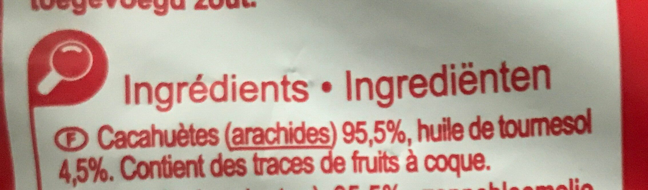 Cacahuètes grillées - Ingrediënten - fr