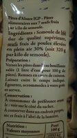 Pâtes d Alsace IGP - Ingrediënten - fr