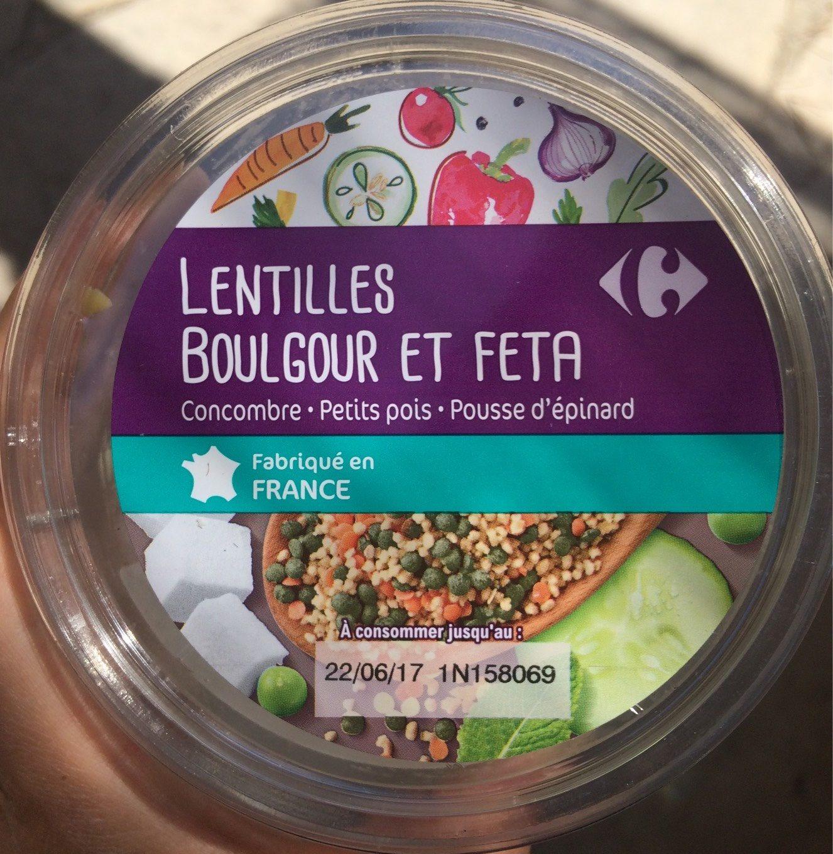 Salade lentilles boulgour et feta - Product - fr