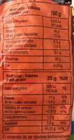 PIPAS DE CALABAZA - Informations nutritionnelles - es