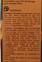 Mix gout choco - Ingrediënten - fr