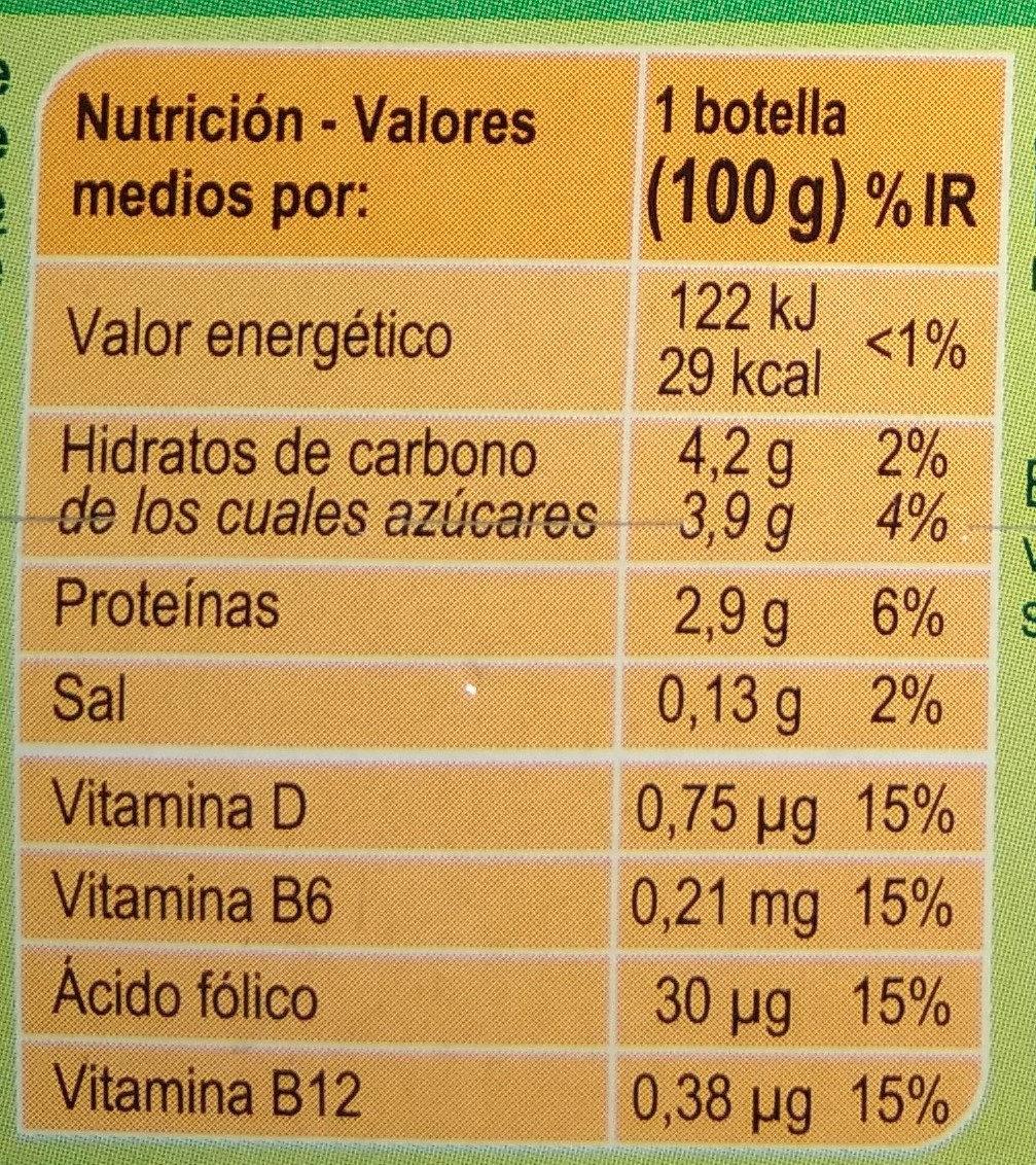 Yogurt líquido L. Casei - Informació nutricional - es