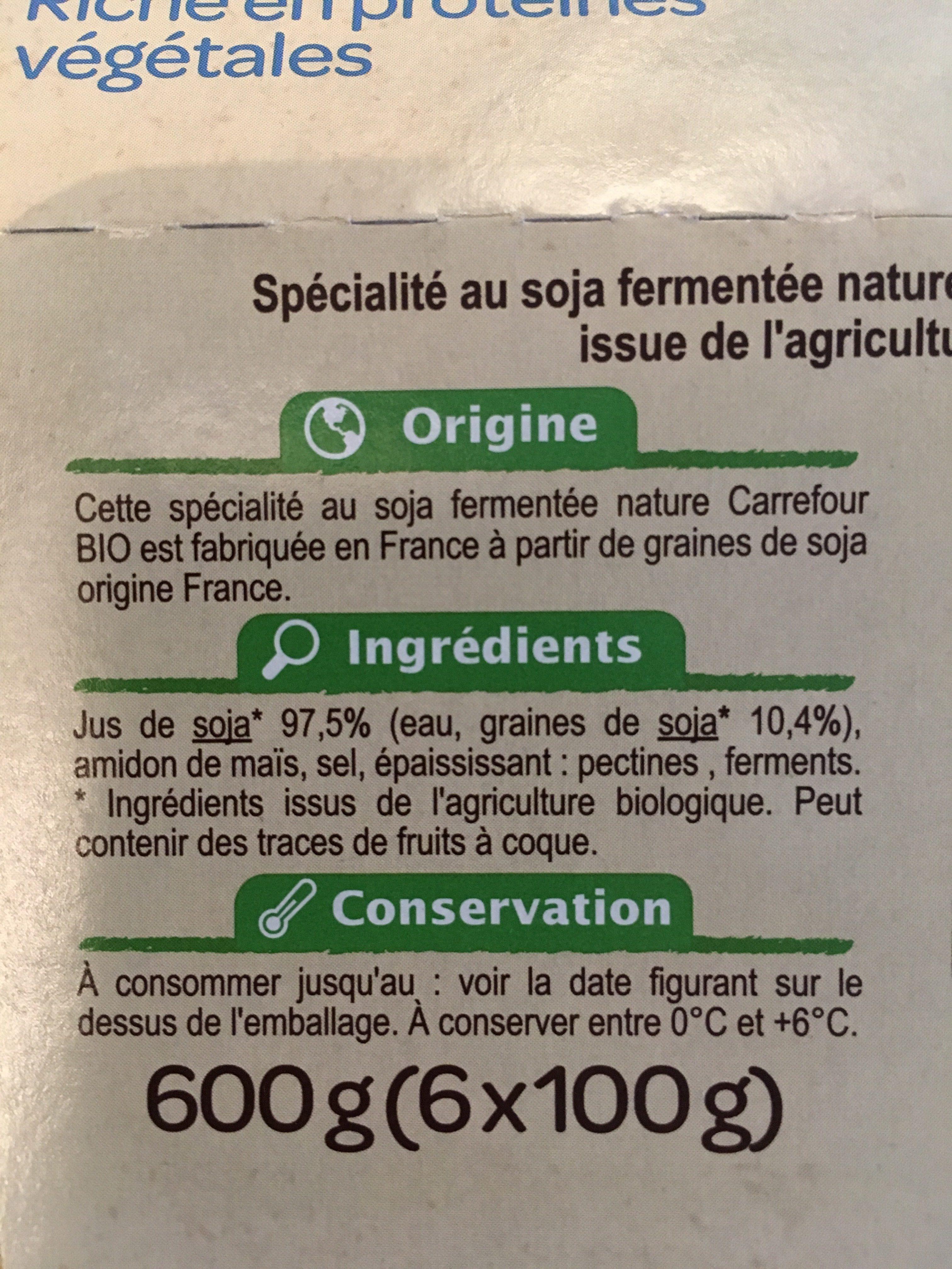 Soja Nature - Ingredienti - fr