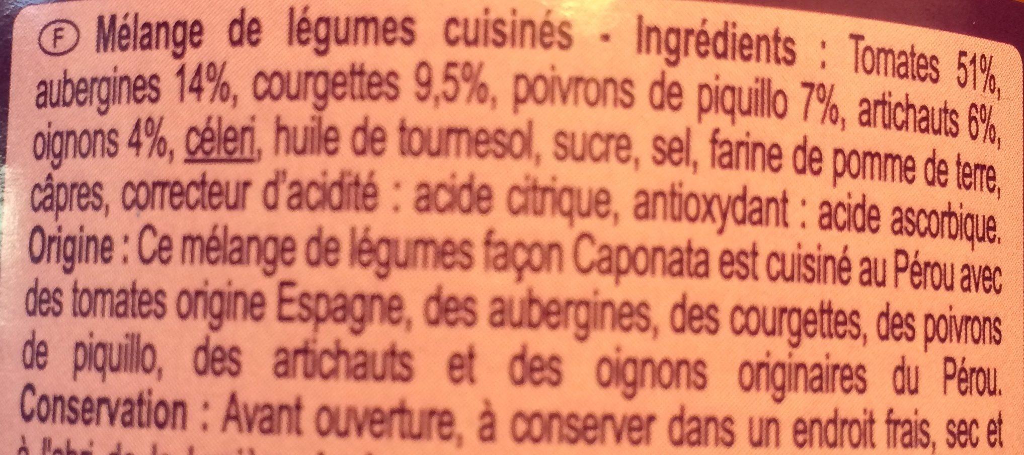 Caponata - légumes façon Groenten - Ingrédients - fr