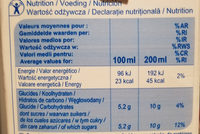 Orange nectar - Informations nutritionnelles - fr