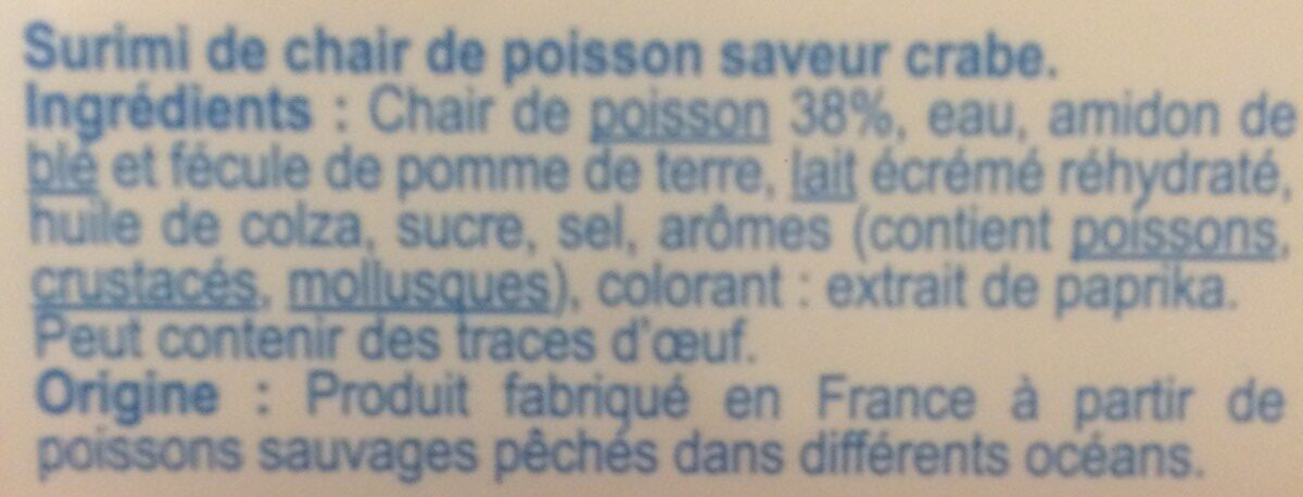 Surimi tendre aux poissons sauvages - Ingredienti - fr